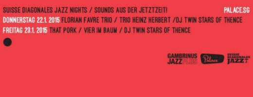 Suisse Diagonales Jazz Nights – Sounds aus der Jetztzeit am 22./23. Januar im Palace